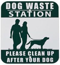 pet signs and posts